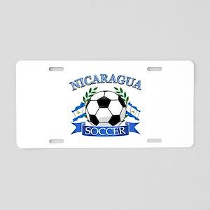 Nicaragua Soccer designs Aluminum License Plate