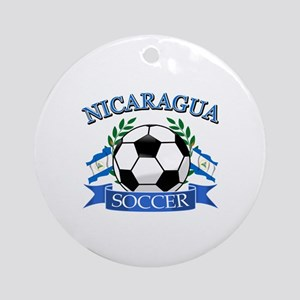 Nicaragua Soccer designs Ornament (Round)