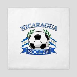 Nicaragua Soccer designs Queen Duvet
