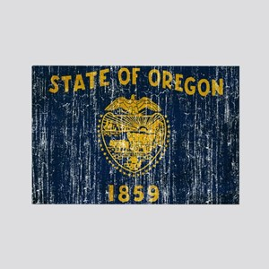 Oregon Flag Rectangle Magnet