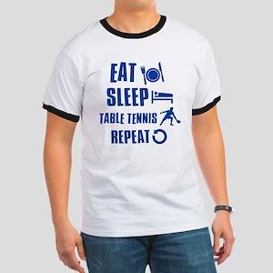 Eat Sleep Table Tennis Ringer T