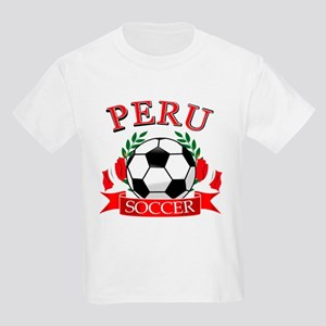Peru Soccer designs Kids Light T-Shirt
