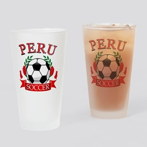 Peru Soccer designs Drinking Glass