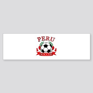Peru Soccer designs Sticker (Bumper)