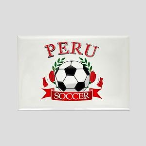 Peru Soccer designs Rectangle Magnet