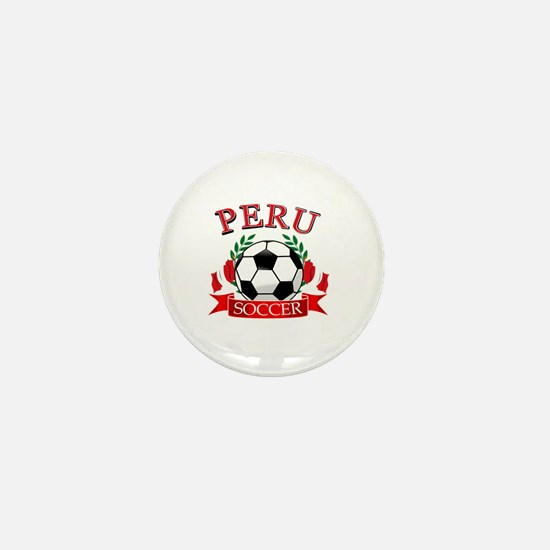 Peru Soccer designs Mini Button