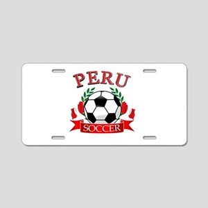 Peru Soccer designs Aluminum License Plate