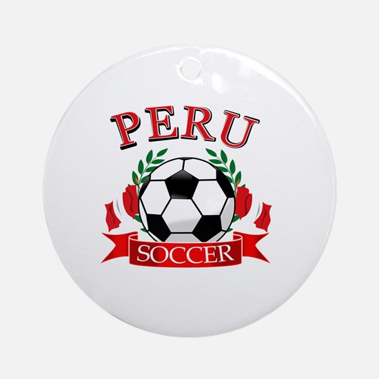 Peru Soccer designs Ornament (Round)