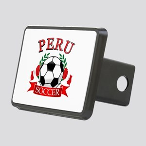 Peru Soccer designs Rectangular Hitch Cover