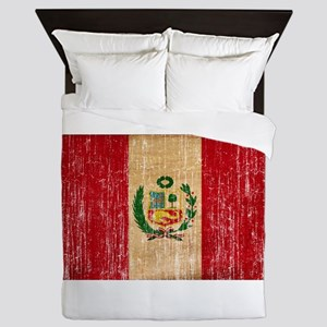 Peru Flag Queen Duvet