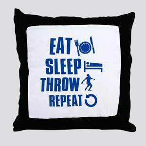 Eat Sleep Throw Discus Throw Pillow