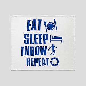 Eat Sleep Throw Discus Throw Blanket