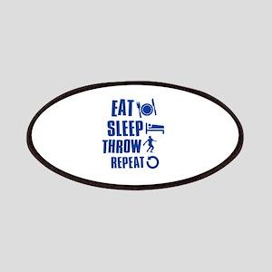Eat Sleep Throw Discus Patches