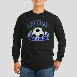 Uruguay Soccer designs Long Sleeve Dark T-Shirt