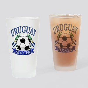 Uruguay Soccer designs Drinking Glass