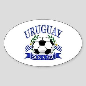 Uruguay Soccer designs Sticker (Oval)