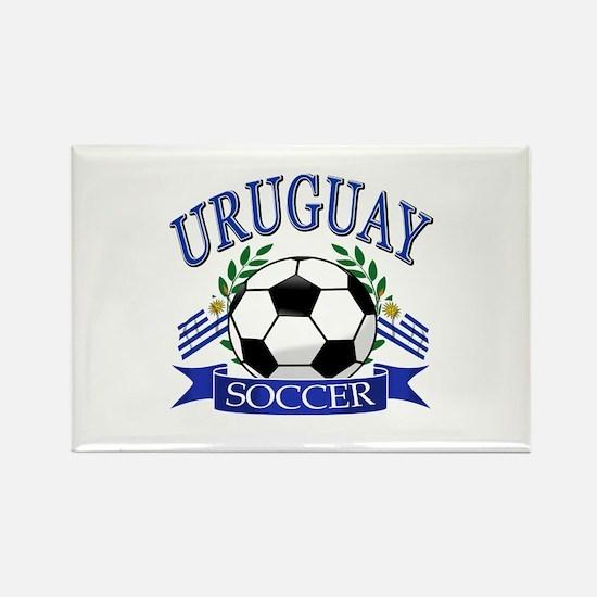 Uruguay Soccer designs Rectangle Magnet