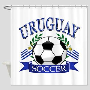 Uruguay Soccer designs Shower Curtain