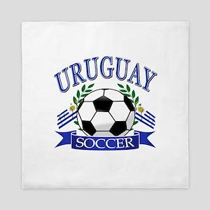Uruguay Soccer designs Queen Duvet