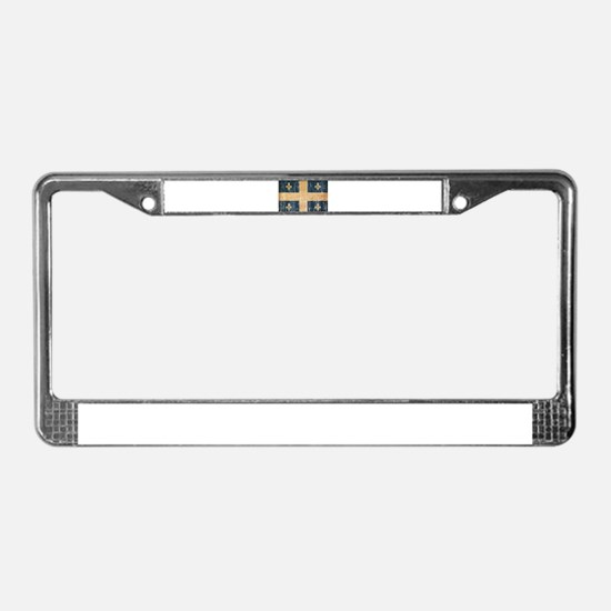 Quebec Flag License Plate Frame