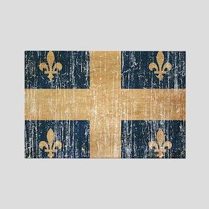 Quebec Flag Rectangle Magnet
