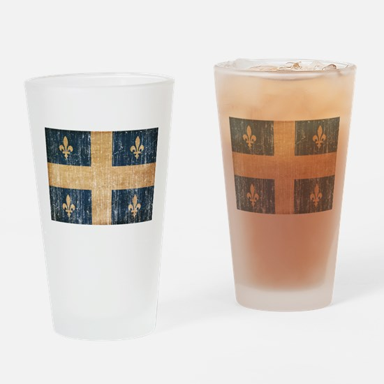 Quebec Flag Drinking Glass
