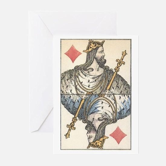 German King of Diamonds Greeting Cards (Package of