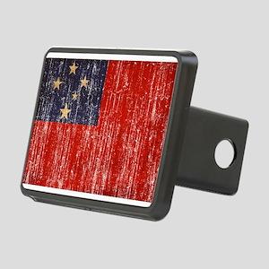 Samoa Flag Rectangular Hitch Cover