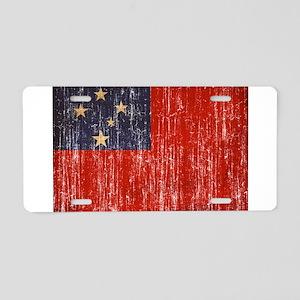 Samoa Flag Aluminum License Plate