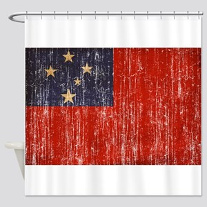 Samoa Flag Shower Curtain