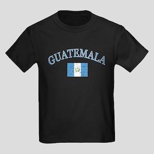Guatemala Soccer designs Kids Dark T-Shirt