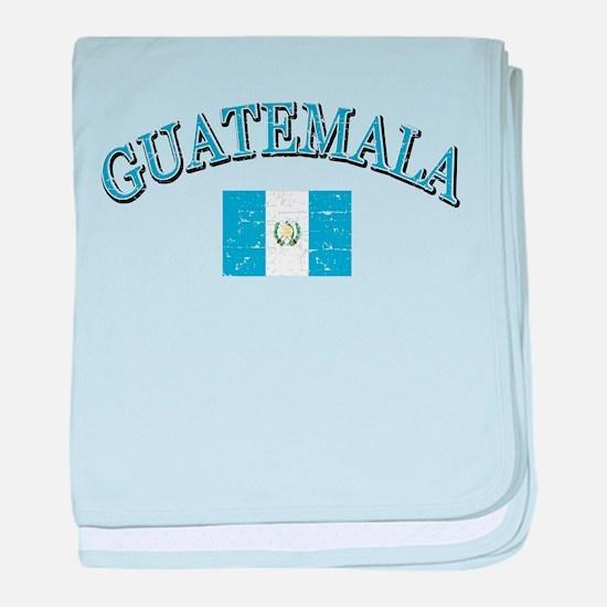 Guatemala Soccer designs baby blanket