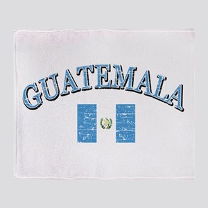 Guatemala Soccer designs Throw Blanket