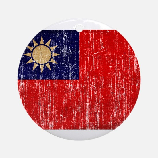 Taiwan Flag Ornament (Round)