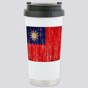 Taiwan Flag Stainless Steel Travel Mug