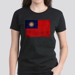 Taiwan Flag Women's Dark T-Shirt