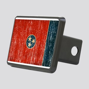 Tennessee Flag Rectangular Hitch Cover