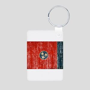 Tennessee Flag Aluminum Photo Keychain