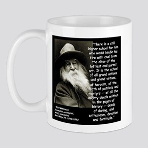 Whitman School Quote 2 Mug