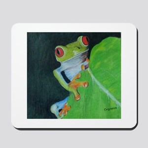 Peekaboo Tree Frog Mousepad