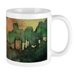 The Woods II Orange Mug