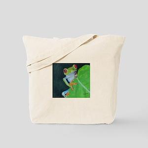 Peekaboo Tree Frog Tote Bag