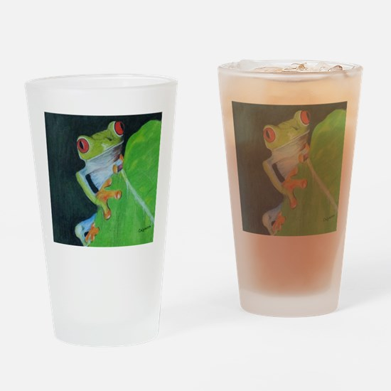 Peekaboo Tree Frog Drinking Glass