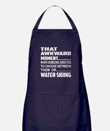 That Awkward Moment... Water Skiing Apron (dark)