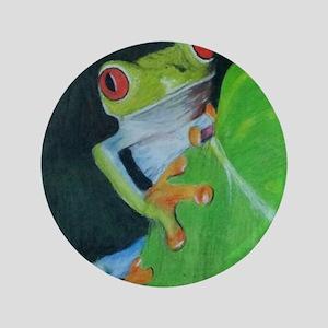 """Peekaboo Tree Frog 3.5"""" Button"""