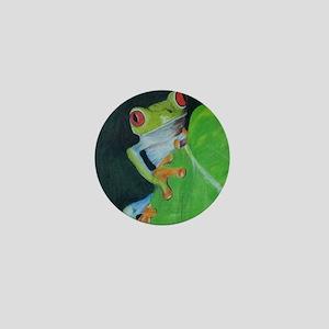 Peekaboo Tree Frog Mini Button