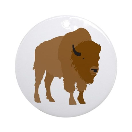 Buffalo Ornament (Round)