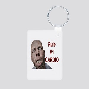 Zombie Cardio Aluminum Photo Keychain