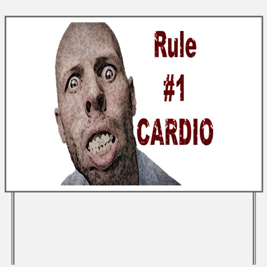 Zombie Cardio Yard Sign