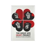Great Ape Heart Project - GAHP Rectangle Magnet